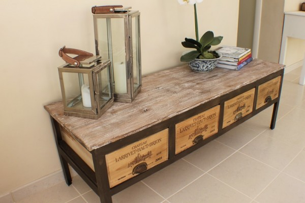 Sandblasted-rosewoodwinebox-drawer-bench