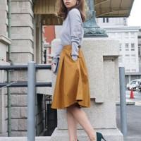 2015年も引き続き人気のミモレ丈スカート♡あなたはフレア派?それともタイト派?!