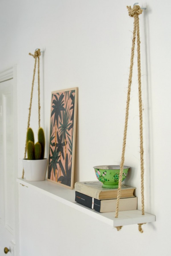 shelf diy rope