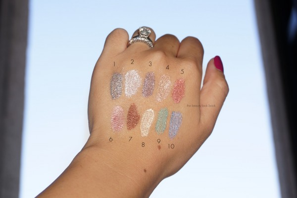 YSL Pop Water Full Metal Shadow Swatches