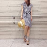 スッキリ爽やかな夏スタイルに♡シャツワンピを使ったコーディネート