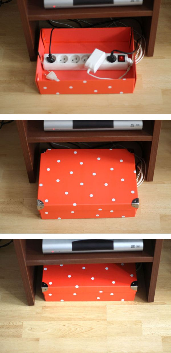 hide-cords-with-cardboard-box