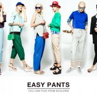 ラフスタイルで大人カジュアルに♪カラフルなEASY PANTSのオススメ着まわしコーデ