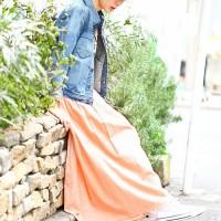 お天気のいい日に☆マキシ丈スカートコーデでごきげん街歩き!