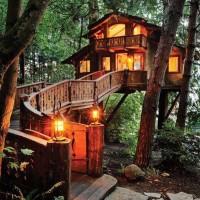 一度は泊まってみたい!樹上に浮かぶメルヘンなお家【ツリーハウス】へようこそ☆