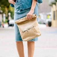 ファッションにもインテリアにも使える話題のペーパーバッグがおしゃれ☆