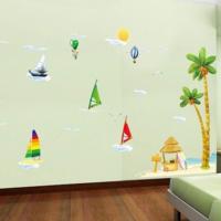 いつもの空間がガラリと変わる♡簡単にできるカラフル壁面のサマーコーデ☆