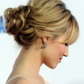 Dianna-Agron-Romantic-Loose-Low-Bun-Updo-for-Wedding
