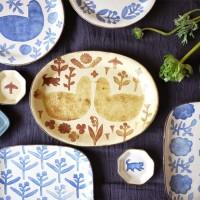 惹きつけられる伝統技法♡陶芸家かとうようこさんの和紙染め食器。