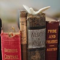 お洒落インテリアには必ずある、古い洋書をオブジェのように飾ってみよう。