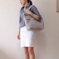 上品で爽やかなカジュアルスタイルは、ホワイトデニムスカートで決める♡
