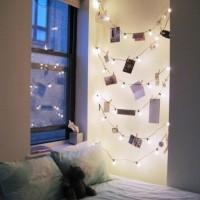ロマンティックなキラキラが綺麗☆お部屋にライトガーランドを飾りましょう♡
