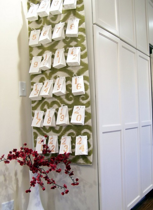 2013  christmas hanging paper storage bag diy advent calender ideas christmas countdown 2013 christm-f47130