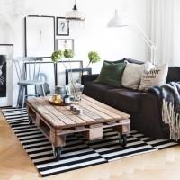DIY家具の材料として大人気☆すのこ・パレットで作るオリジナルリビングテーブル♪