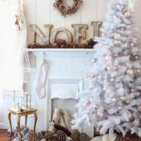 白をテーマにしたクリスマスデコレーション&コーディネート♡