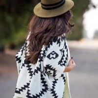Aztec-Cardigan-and-Olive-Green-Hat