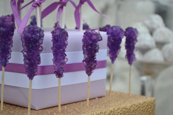 Dessert+Table+Toronto+Wedding+Shower+Rock+Candy+Purple+Gold+Sweet+Design+Company