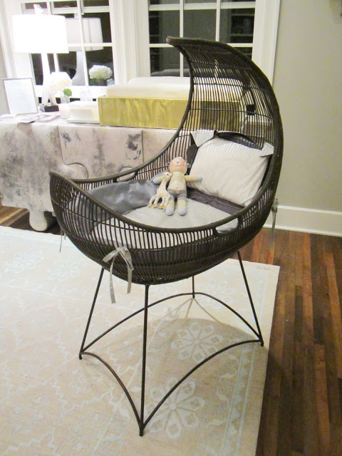 cococozy house of windsor smith nursery 2 bassinet moon shape crescent moon shaped rattan