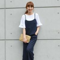 シンプルな春服をワンランク上の着こなしに♡【キャミレイヤード】コーデ特集!
