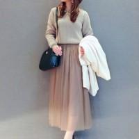 大人女子が着るから素敵♡チュールスカートを使った甘すぎないコーデ特集!