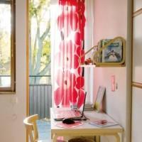 お気に入りのファブリックで気分を一新!マリメッコのカーテンがある風景♡