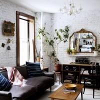 海外インテリアを参考にレンガの壁の素敵なお部屋を作りたい♡