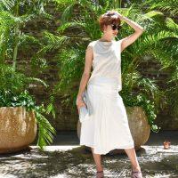今年も楽しみたいオールホワイトコーデで爽やかな夏スタイル♪