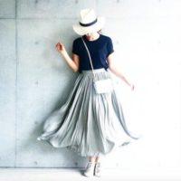 大人スタイルのふんわりスカートで上品に可愛くコーディネート♡