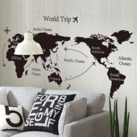 男前インテリアを目指すなら☆世界地図や地球儀をオシャレに飾るルームコーデ集