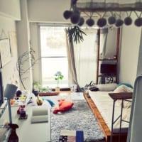 ワンルーム永遠の課題「リビングと寝室の2部屋に分けたい!」を、間仕切りでかなえる♫