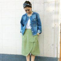 押さえておきたいスカートのトレンド☆今履きたいのはミディ丈ラップスカート♪