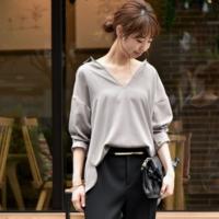 大人女性のシャツコーデ☆夏だからこそ着まわしたいシャツスタイルはオーバーサイズで合わせる!