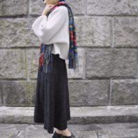 ストールで秋の装い☆巻いたり、羽織ったり、色々使えて便利なアイテム♪