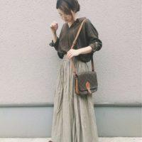 お出かけするのもワクワク♪秋気分のロングスカートを使った素敵な大人コーデ☆