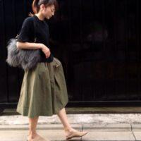 この秋注目のアイテムがいっぱい♡GUのスカートを使ったお洒落コーデ
