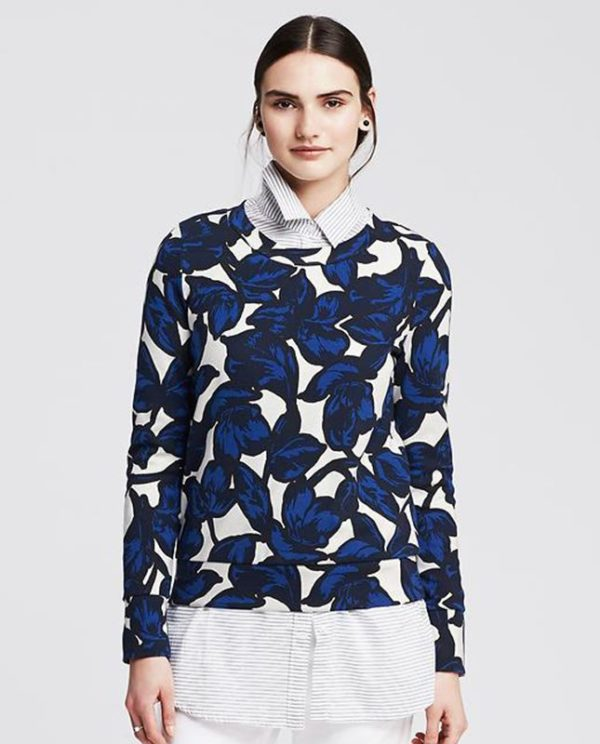 banana-republic-blue-floral-sweater