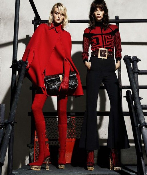 z35sfu-l-610x610-sweater-versace-autumn+winter-fall+outfits-winter+outfits-red-70s+style-haute+couture-luxury-trendy-chic-high+end-karlie+kloss-lexi+boling-model-holiday+season-red