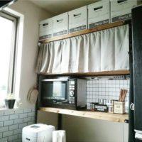 窓や棚のちょっとした目隠しに使える!ステキなカフェカーテンの活用法!