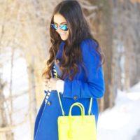 海外のファッショニスタから学ぶ☆きれい目カラーのOutfitで冬の街を歩いてみよう♡