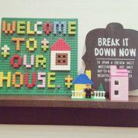 インテリアでも大活躍!LEGOで玄関先を楽しく飾り付けしよう♪