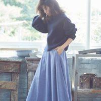 マキシスカートは秋冬もトレンド続行中。冬のスカートはやっぱりマキシでしょ♡