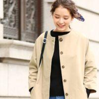 首元スッキリ☆重くなりがちな冬を軽やかにするノーカラーのコート特集