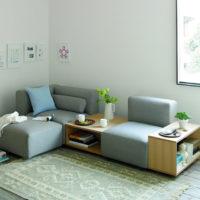 部屋の自由度をUPするユニットソファ。「無印」と「IKEA」を比べてみました♪