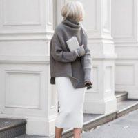 秋冬は「ホワイト+グレー」のコーデでシックにそして柔らかい印象に♡