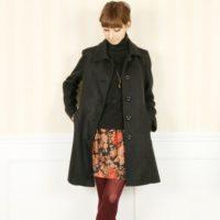 暗くなりがちな冬コーデを華やかに☆花柄スカートを取り入れた素敵コーデ集