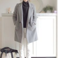 冬をおしゃれに過ごす♪グレーのコートから素敵コーデをご紹介します!