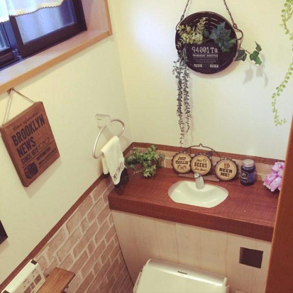 カントリー風トイレ