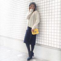 UNIQLOのジャージーペンシルスカートコーデ集☆きれいめシルエットでスタイルアップ!