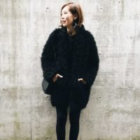 ラインがキレイなZARAの黒パンツで、着膨れしがちな冬もスッキリシルエットをゲット☆