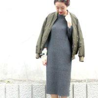 一枚で着てもサマになる☆シンプルな綺麗めカシミヤワンピースコーデ♪